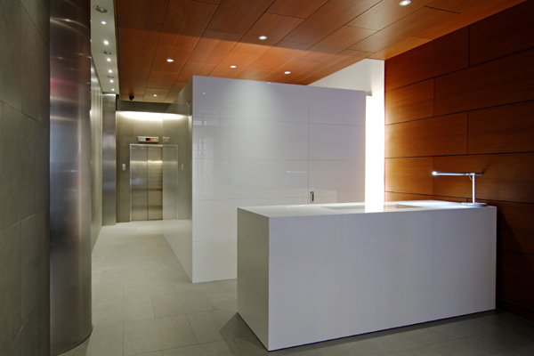 lobby mailroom and desk
